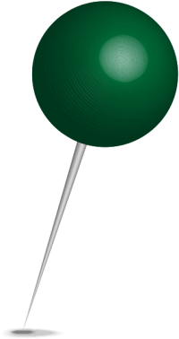 Location map pin dark green sphere. Free vector data(SVG).