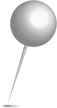 Location map pin gray sphere. Free vector data(SVG).