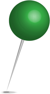 Location map pin green sphere. Free vector data(SVG).