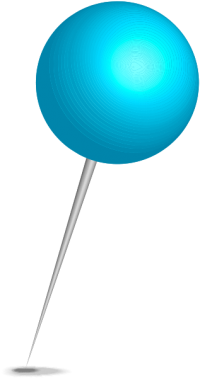 Location map pin light blue sphere. Free vector data(SVG).
