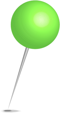 Location map pin light green sphere. Free vector data(SVG).