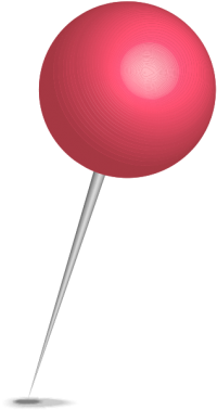 Location map pin pink sphere. Free vector data(SVG).