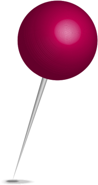 Location map pin purple sphere. Free vector data(SVG).