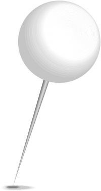 Location map pin white sphere. Free vector data(SVG).