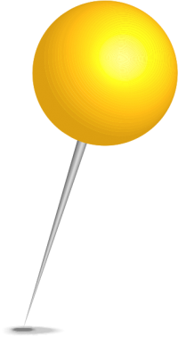 Location map pin yellow sphere. Free vector data(SVG).