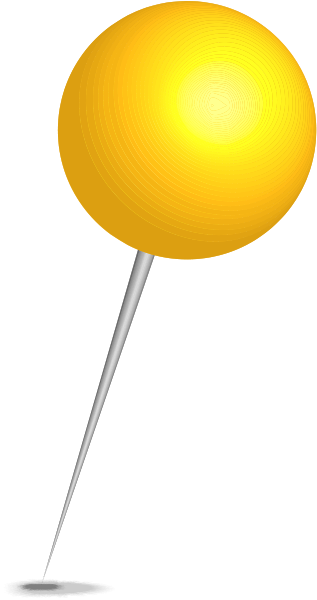 yellow pin clipart - photo #17
