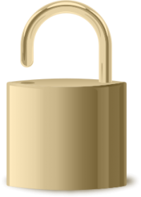 LOCK Icon gold