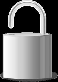 LOCK Icon silver
