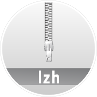 """LZH"" data compression icon Circle"