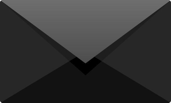 Black E mail icon free vector data.