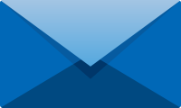 Blue E mail icon free vector data.