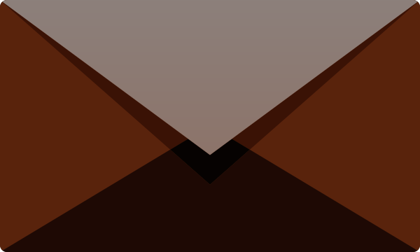 Brown E mail icon free vector data.