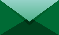 Dark green E mail icon free vector data.
