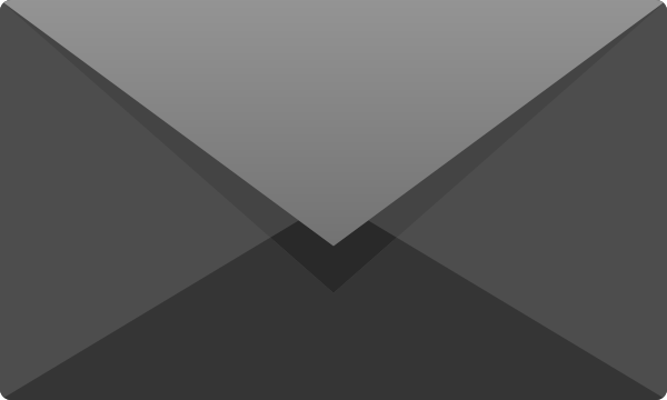 Gray E mail icon free vector data.