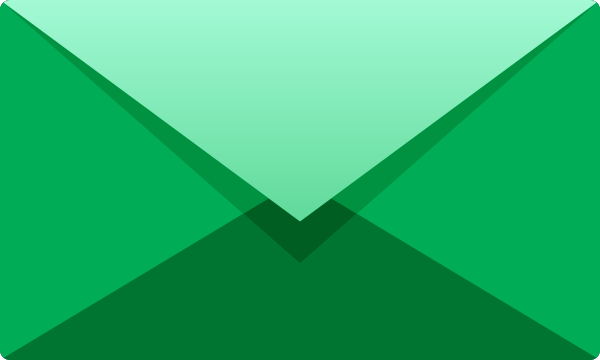 Green E mail icon free vector data.