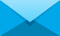 Light blue E mail icon free vector data.