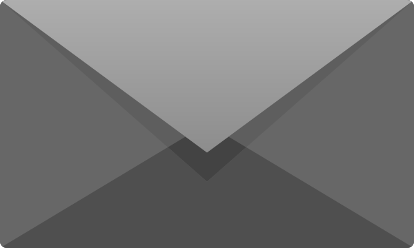 Light gray E mail icon free vector data.