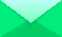 Light green E mail icon free vector data.