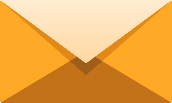 Light orange E mail icon free vector data. | SVG(VECTOR):Public Domain ...