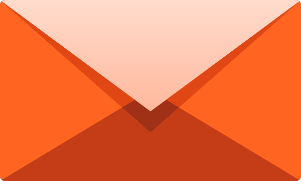 Orange E mail icon free vector data.