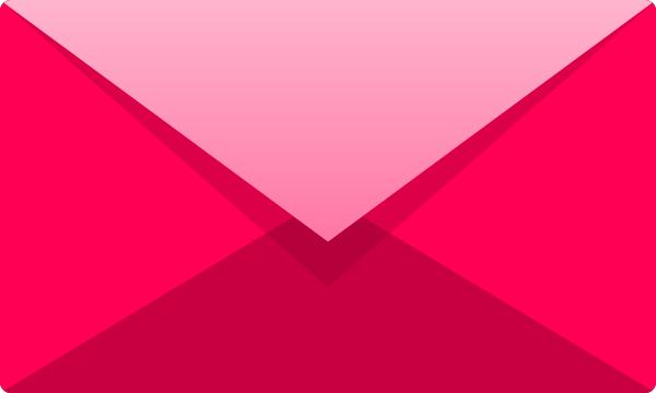 Pink E mail icon free vector data.