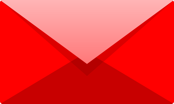 Red E mail icon free vector data.