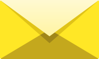 Yellow E mail icon free vector data.