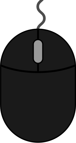 Black mouse icon2 free vector data.