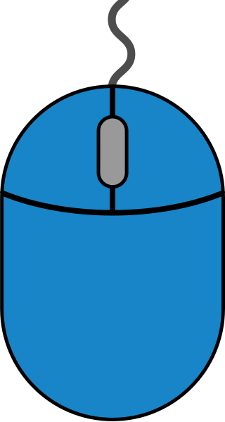 Blue mouse icon2 free vector data.