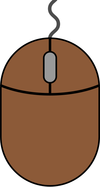 Brown mouse icon2 free vector data.