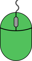 Green mouse icon2 free vector data.