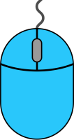 Light blue mouse icon2 free vector data.