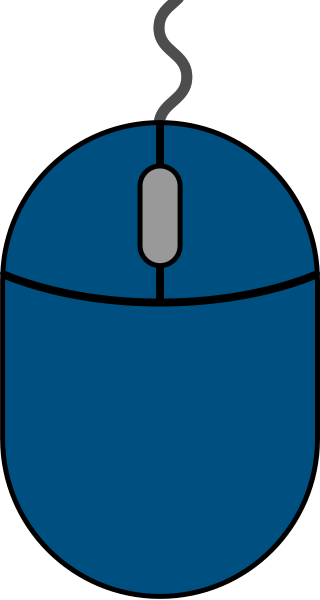 Navy blue mouse icon2 free vector data.