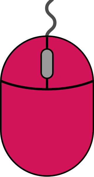 Pink mouse icon2 free vector data.