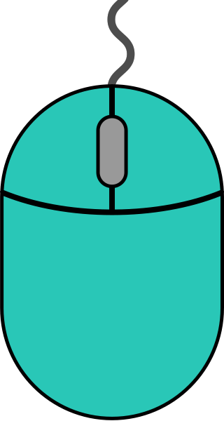Turquoise blue mouse icon2 free vector data.