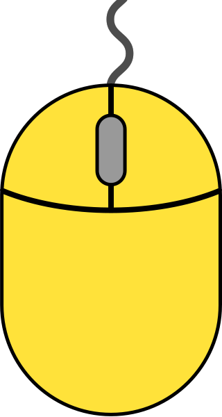 Yellow mouse icon2 free vector data.