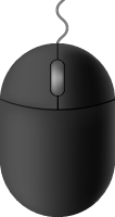 Black mouse icon free vector data.