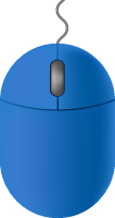 Blue2 mouse icon free vector data.