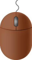 Brown mouse icon free vector data.