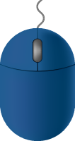 Dark blue mouse icon free vector data.