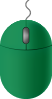Dark green mouse icon free vector data.