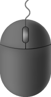 Gray mouse icon free vector data.