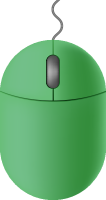 Green mouse icon free vector data.