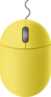 Lemon yellow mouse icon free vector data.