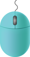 Light blue mouse icon free vector data.