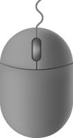 Light gray mouse icon free vector data.