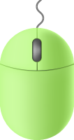 Light green2 mouse icon free vector data.