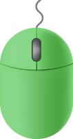 Light green mouse icon free vector data.