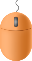 Light orange mouse icon free vector data.