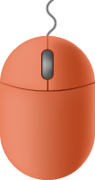 Orange mouse icon free vector data.